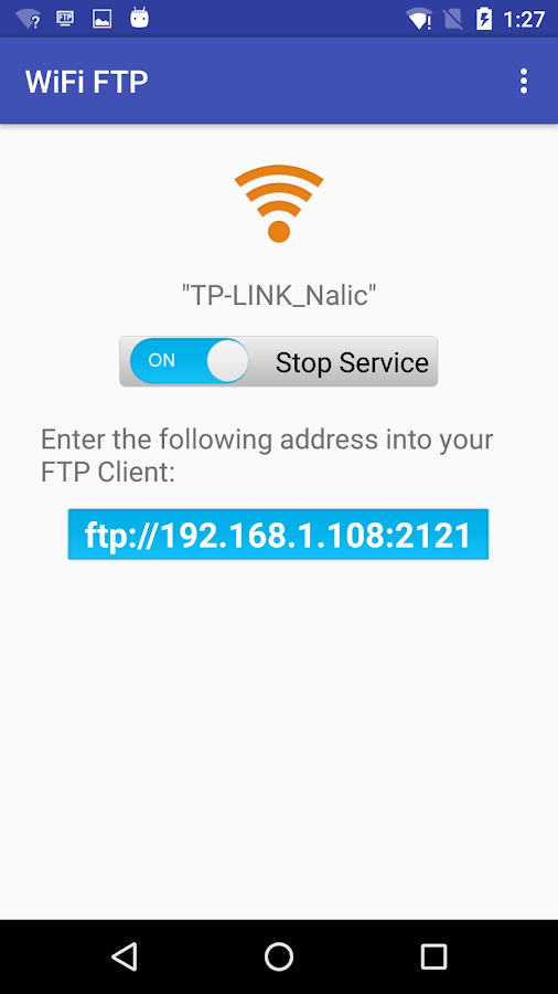 WiFi FTP (WiFi File Transfer)- screenshot