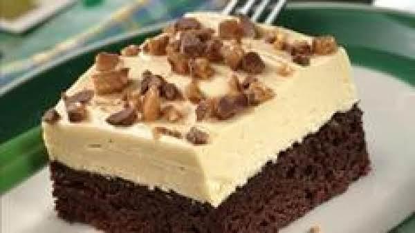Irish Cream-topped Butterscotch Brownie Dessert Recipe