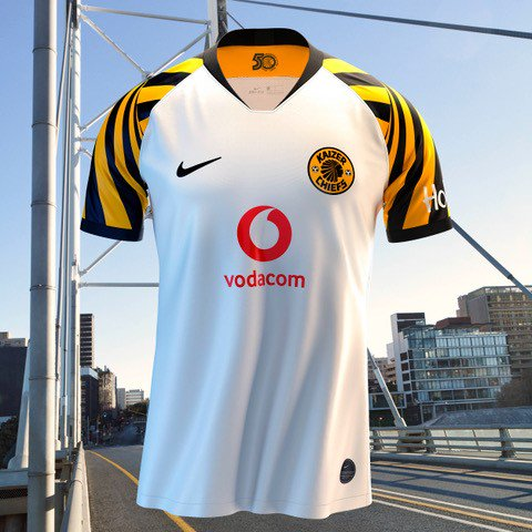 The new Kaizer Chiefs away jersey for the 2019/20 season.