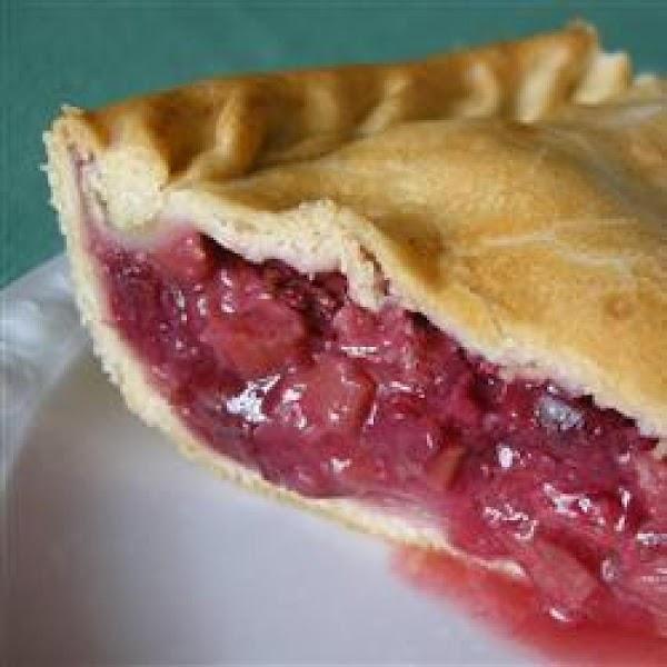 Mom's Rhubarb Pie Recipe