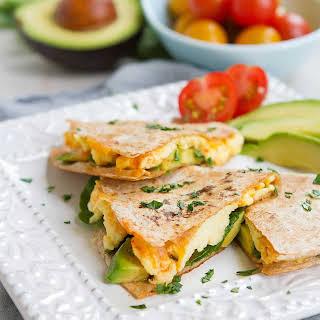 Spinach Avocado Breakfast Quesadilla.