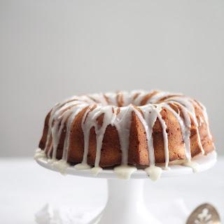 Cream Cheese Pound Cake with Vanilla Bean Glaze.