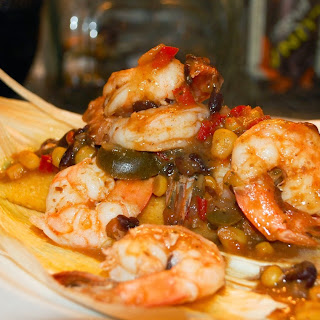 3-Ingredient Shrimp and Salsa over Tamales