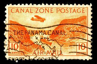 Photo: Panama Canal Early airmail