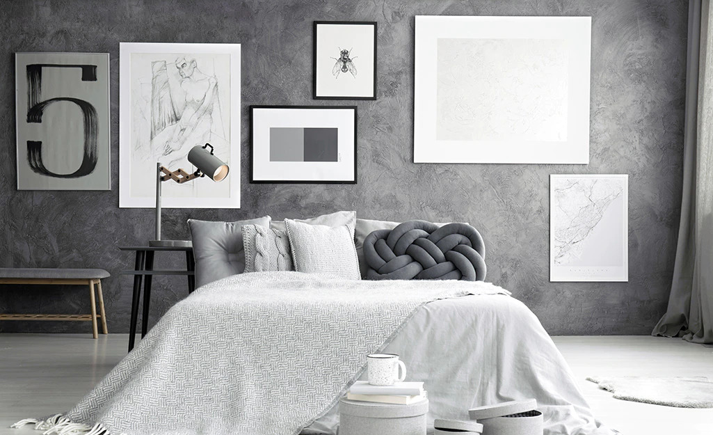 Neutral Bedroom Decor Ideas with Stockholm Knot Cushion