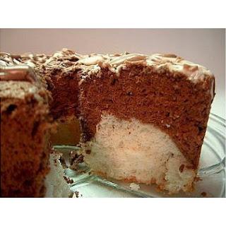 Black and White Angel Food Cake