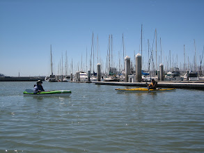 Photo: Marilyn and Bob at South Beach Marina, a shortcut to Mission Creek