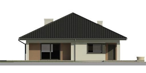 Dom przy Makowej 3 - Elewacja przednia