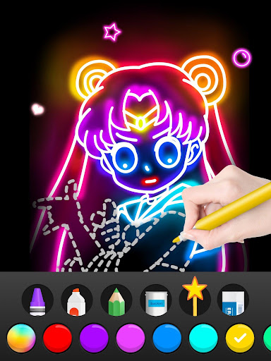 Draw Glow Comics 1.0.5 screenshots 10