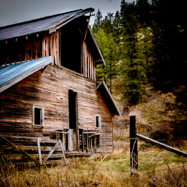 Old Barn  by Anthony Balzarini - Buildings & Architecture Decaying & Abandoned ( #wa, building, #spokane, #farm, #outdoor, pacific, #barn, #decaying, #northwest, #photography, #abandoned,  )