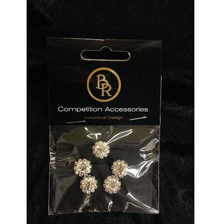 BR Crystal Hårspiral Liten sten med strass 5 pack
