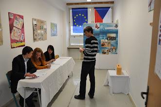 Photo: Studentské prezidentské volby - jazyková učebna J1 (úterý 11. prosinec 2012).