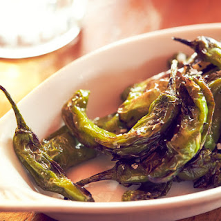Grilled Shishito Peppers.
