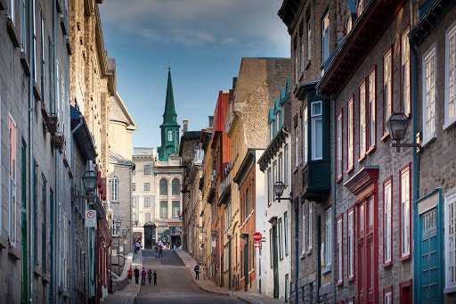 quebec-city.jpg - The pretty, charming Petit Champlain Quarter of Quebec City is lined with houses, cafes and art galleries.