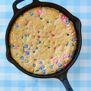 3 Ingredient Festive Skillet Cookie.