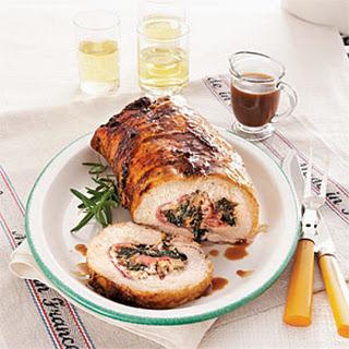 Dandelion-Stuffed Pork Loin