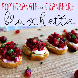 Pomegranate and Cranberry Bruschetta
