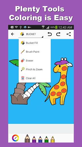 Tap Coloring: Cartoon Animals