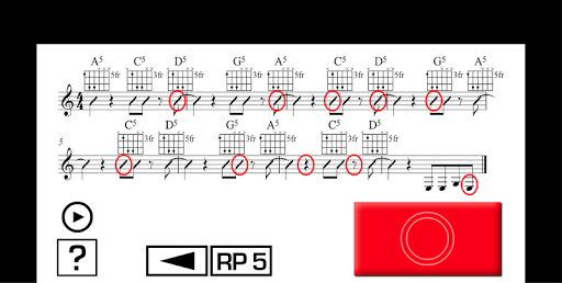 Guitar Sight Reading PRO Apps voor Android screenshot