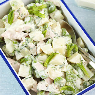 Potato, Lima Bean and Chicken Salad.