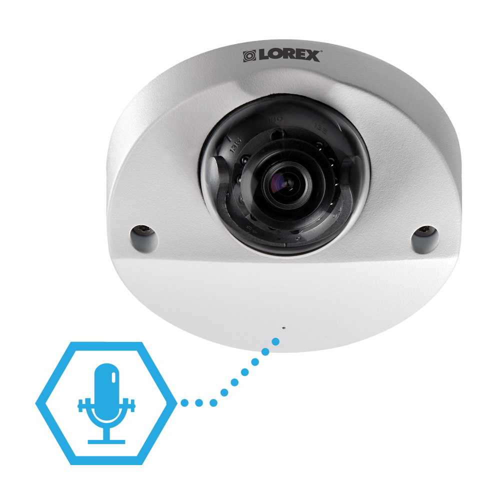 HD security camera with microphone