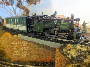 Photo: 022 Gert Jensen's fantastic North British class B 0-4-0ST complete with authentic 5 man crew spotted on the Darjeeling and Himalaya Society publicity stand .