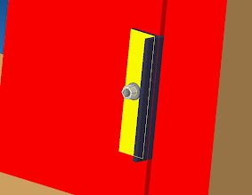 Photo: le montant de cadre est en place  bien sur le montant fera toute la hauteur de la geule et on utilisera 2 ou 3 chevilles sur la hauteur