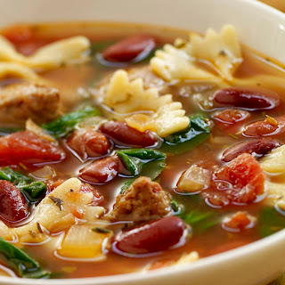 Italian Style Soup with Turkey Sausage.