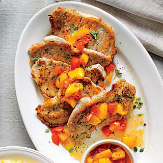 Pork Grillades with Pepper Jelly-Peach Sauce