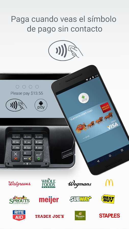 Android Pay: captura de pantalla