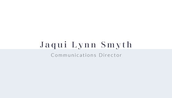 Smyth Director Front - Business Card Template