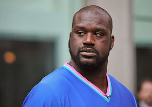 """Photo: NEW YORK, NY - SEPTEMBER 13:  Shaquille O'Neal visits """"FOX & Friends"""" at FOX Studios on September 13, 2011 in New York City.  (Photo by Slaven Vlasic/Getty Images)"""