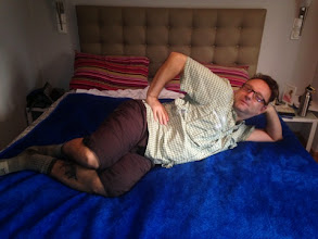 Photo: Our bedding was made of cookie monster pelt.