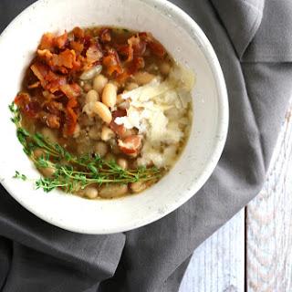 One Pot White Bean, Bacon, and Garlic Soup