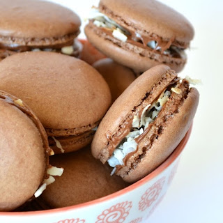 Nutella Coconut Macarons Recipe