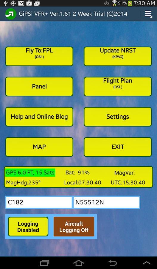 VFR GPS Airplane Navigation- screenshot