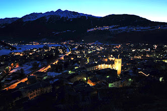 Photo: Bormio (con Oga di sentinella!) by night [ph. Alberto URBANI - thanks!]