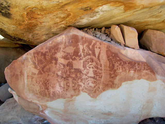 Petroglyphs at the base of Cedar Mountain