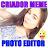 Criador de MEME Foto Editor Texto Carinhas Na Foto logo