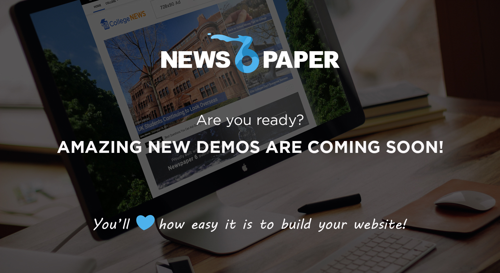 Photo: Get ready to upgrade your #wordpress #website ! News demos heading your way! Discover the joy of using the best news #theme on #Themeforest! http://goo.gl/SghDdX