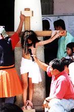Photo: Oaxaca, przedstawienie dzieci z okazji dnia Św. Ramona / Children's performance on St. Ramon day
