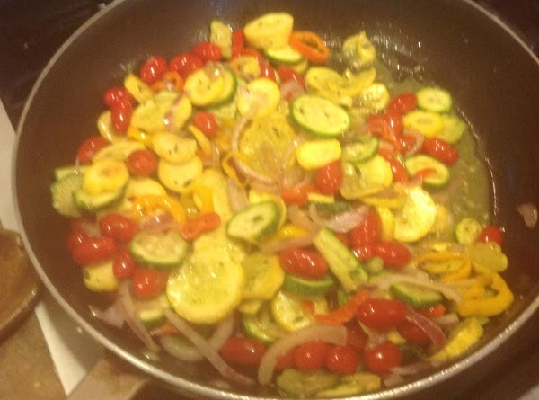 Saute until veggies begin to become translucent about 8 to 10 minutes, and then...