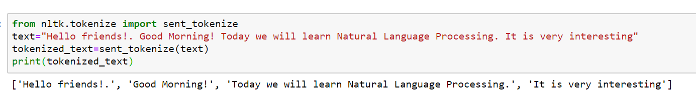 Natural Language Processing Python sentences Text Cleaning and Preprocessing
