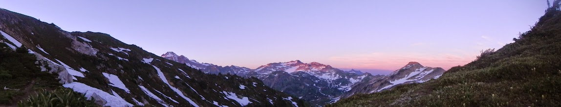 Photo: A broader view from my camp at Red Pass