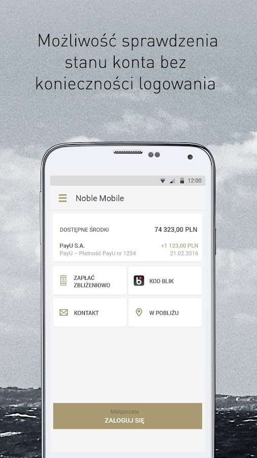 Noble Mobile – zrzut ekranu