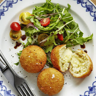 Three Cheese and Pesto Arancini