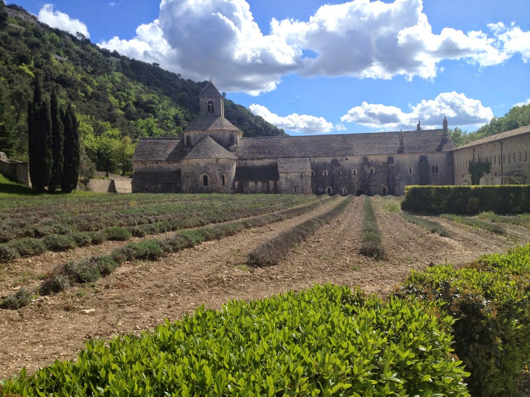 Аббатство Сенанк (Senanque Abbey) - лавандовые поля Прованса - Горд (Gordes) - фото - Прованс, Франция, Люберон - в окрестностях Авиньона