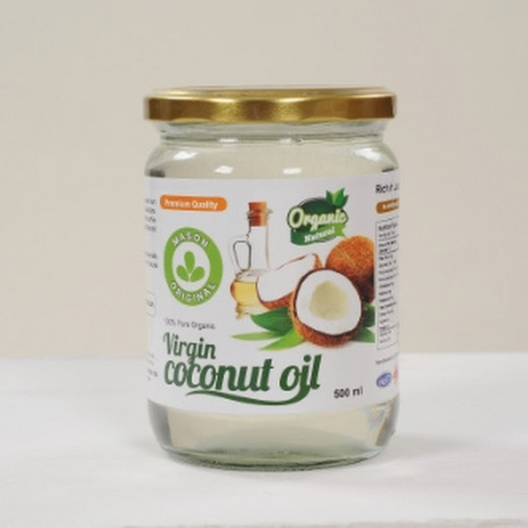 Mason Original Virgin Coconut Oil ( 500ml wide mouth glass jar ) by Atlantis Arena Sdn Bhd
