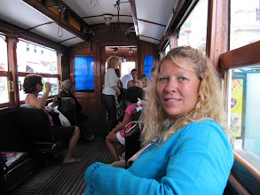 Photo: Day 106 - Dee on the Old Tram to Taksim