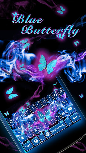 Blue Butterfly Kika Keyboard